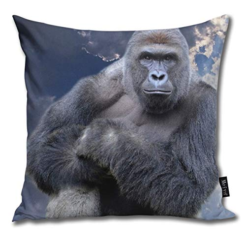 Harambe Meme Sticker Shirt Decorative Throw Pillow Covers with Quotes Outdoor Pillow Covers xcm Couch Cushion Covers Lumbar Pillow Cover 18x 18 inch