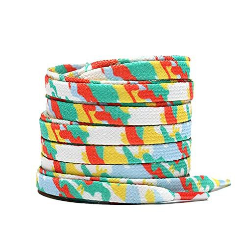 1 par de cordones para zapatos cordones para botas de caminar cordones duraderos 15 colores de repuesto cordones para zapatos para caminar botas, color Verde, talla M