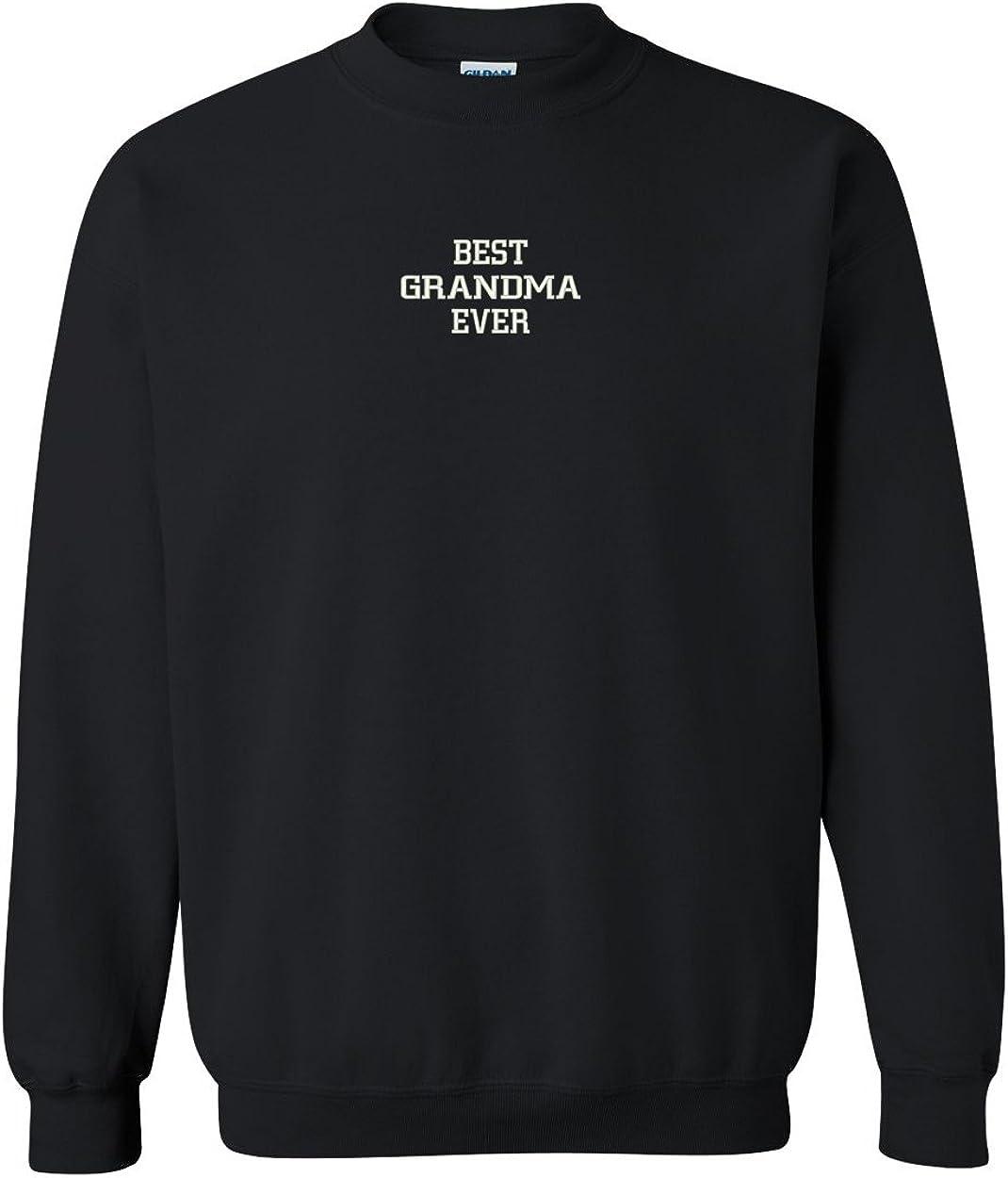 Trendy Apparel Shop Best Grandma Ever Embroidered Crewneck Sweatshirt