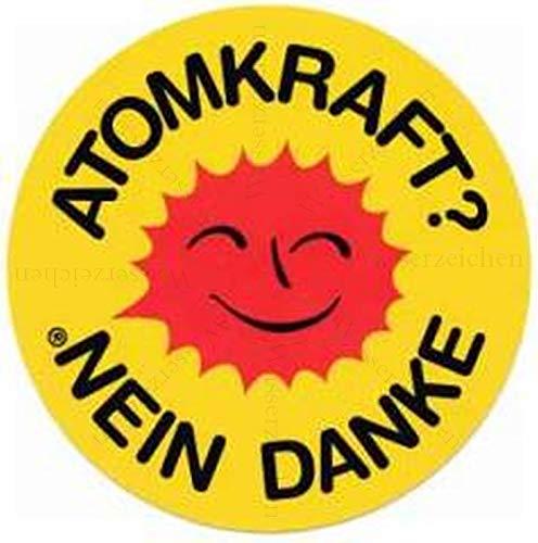 30cm! Aufkleber-Folie Wetterfest Made IN Germany Atomkraft Nein Danke Sonne Kreis Gelb S509 UV&Waschanlagenfest-Auto-Vinyl-Sticker Decal Profi Qualität DigitalSchnitt