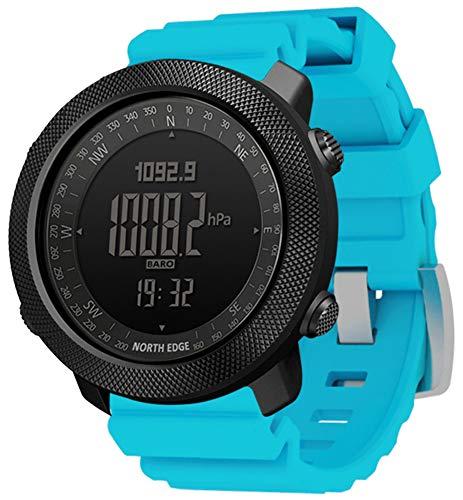XWZ Reloj Deportivo Deportivo para Hombres Reloj Deportivo Inteligente Reloj Reloj De Pulsera En Marcha Natación Militar Militar Relojes Altímetro Barómetro Brújula Impermeable 50M,Azul