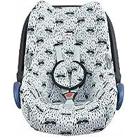 JANABEBE Funda para Maxi Cosi Cabriofix, silla de coche gr 0 (Raccoon)