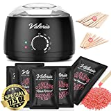 Yeelen Waxing Kit Wax Warmer Wax Beads Hot Wax Hair Removal with 5 packs Hard Wax Beans and 20 Wax Applicator...