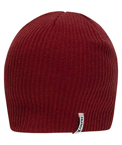 Hurley M Staple O&O Beanie Gorro, Hombre, Team Red, 1Size