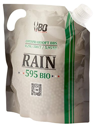 SACHET DE 3500 BILLES BIODEGRADABLES BLANCHES DE 0.25 g RAIN 595 BIO BO DYNAMICS