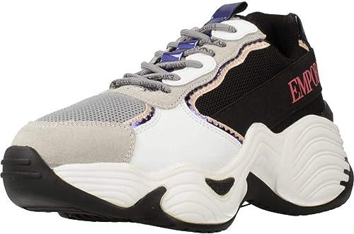 Emporio armani sneaker in pelle e tessuto X3X088-XM059-R541