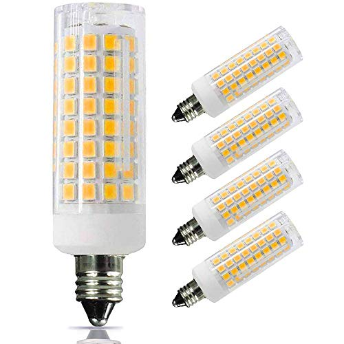 [4-Pack] e11 led Bulb 100w Equivalent dimmable, Mini Candelabra led 100w Equivalent,850lm, 110V 120V 130V Input, 60W 75W 100W Halogen Bulbs Replacement, Warm White 3000K