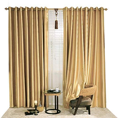 cortinas habitacion doradas