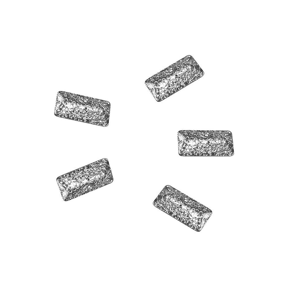 優れました透明にナチュラBonnail ラフスタッズシルバー レクタングル3×1.2mm