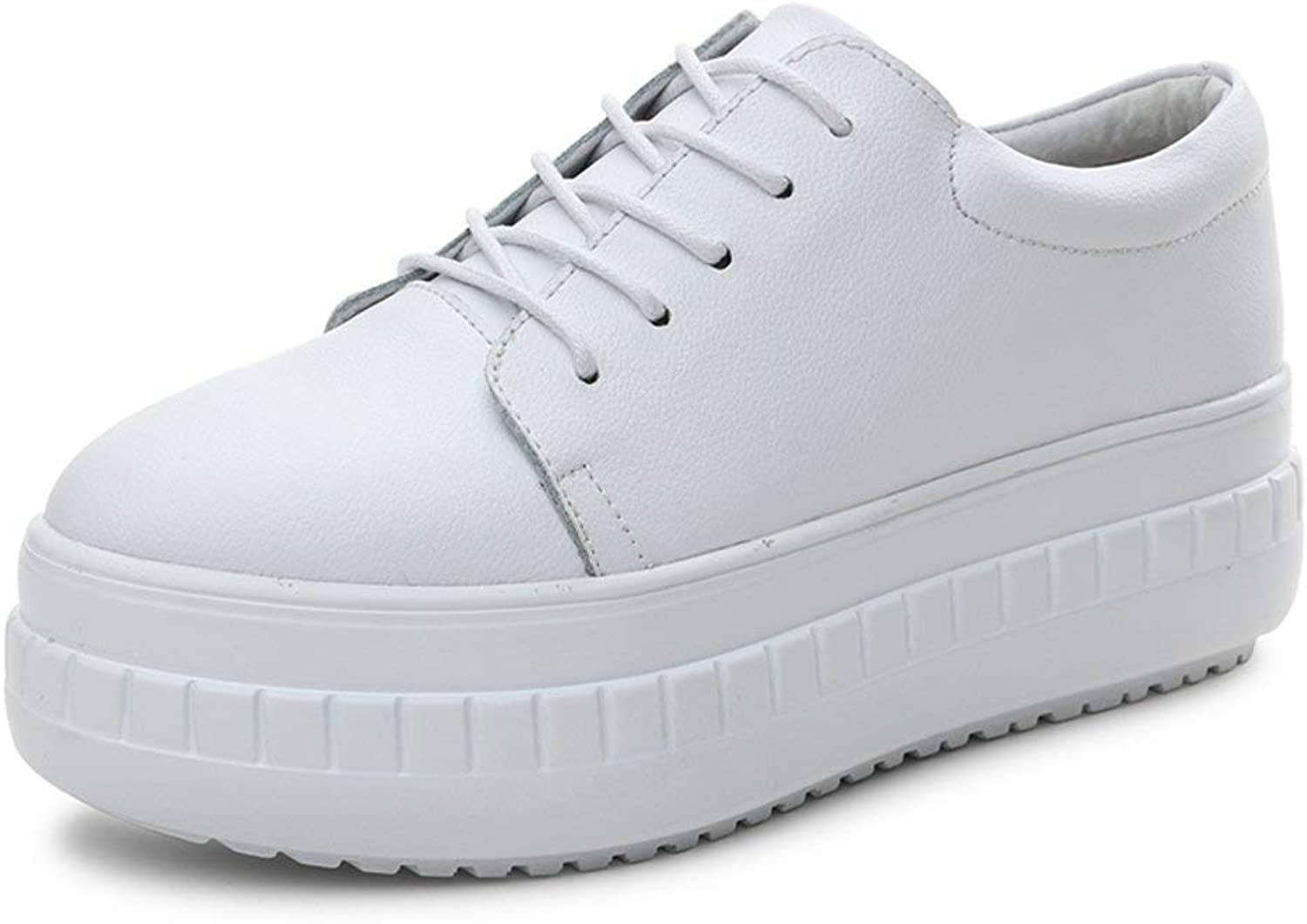 shoes Casual Versatile Leather White, Korean Style Thin, Thicken, White Casual