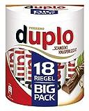 Ferrero duplo Big Pack – Schmeckt knusperleicht – 1 Packung mit je 18 Einzelriegeln (18 x 18,2...