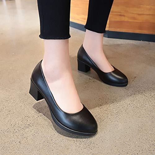 Mihoutao Plataformas de Suela Gruesa para Mujer, Ultra cómodas y Antideslizantes, Zapatos de Corte de Trabajo para Fiestas para Damas (Size : 39)