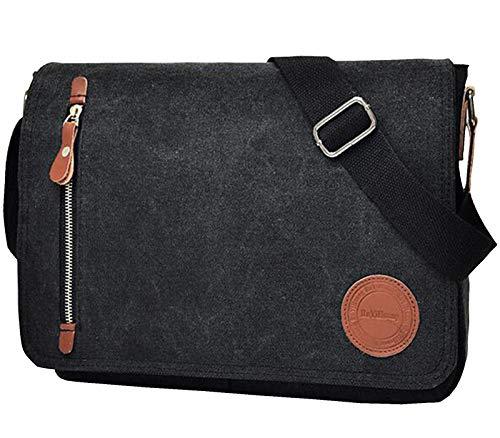 Vintage Canvas Satchel Messenger Bag for Men Women,Lenovo Chromebook Flex 5 13' Laptop,MacBook Air/Pro 13', 13.3' Jumper Laptop,Acer Chromebook R 13,ASUS ZenBook 13, 11.6-13.3 inch Laptop Shoulder Bag