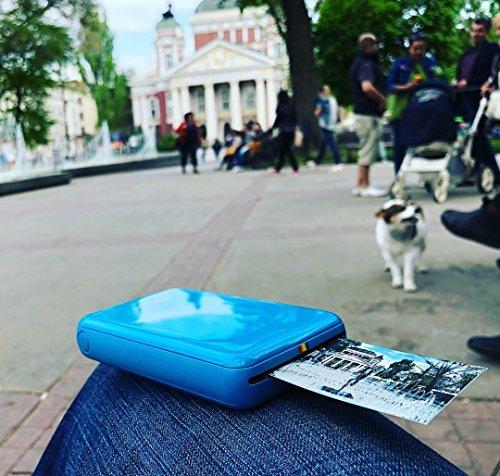 Polaroid ZIP Handydrucker mit ZINK Zero tintenfreier Drucktechnologie – Kompatibel mit iOS- & Androidgeräten - Blau