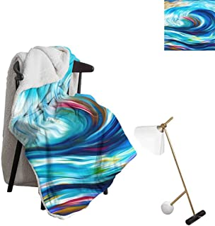 Throw Blanket Throw A Blanket Dynamic Color Series. Interplay of Streams of Paint on The Subject of Forces of Nature Warm Blanket Queen Luxury Super Soft Warm Decoration W59 xL78