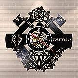 LED-Tatuaje de logotipo de estudio de tatuaje, nombre personalizado, vinilo silencioso, pared de registro, tienda de tatuajes, máquina de tatuaje, decoración de pared, regalo para hombre Hipster