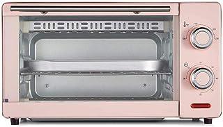 Horno eléctrico de 11 litros Mini horno Horno de rejilla 1000 vatios 60 minutos doble parrilla temporizada BBQ azul-Rosado