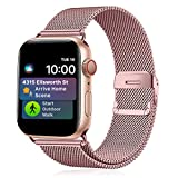 Funbiz Metal Correa Compatible con Apple Watch 38mm 40mm 42mm 44mm, Pulsera de Repuesto de Acero...