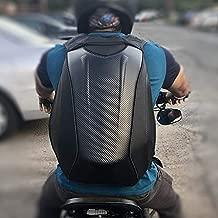 Motorcycle Backpack Waterproof Bag Men - Hard Shell Backpack Carbon Fiber Motorbike Helmet Backpack Waterproof Large Bag For Travelling Camping Cycling Storage Bag