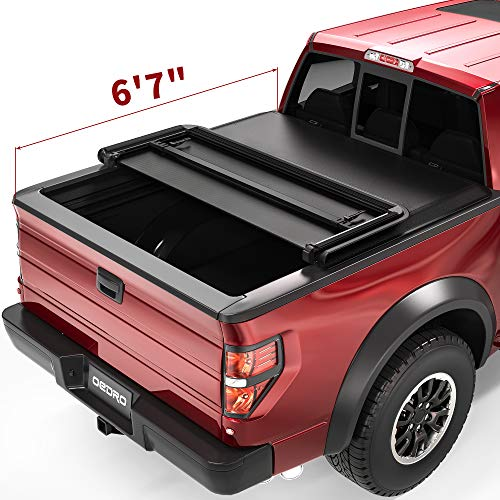 oEdRo Upgraded Soft Tri-Fold Truck Bed Tonneau Cover Compatible with 2009-2014...