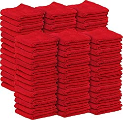 Image: Shop Towels Commercial Grade | Machine Washable Cotton Washcloths | Lint Free Shop Rag | Perfect for Auto Mechanic Work and Bar Mop | by Utopia Towel