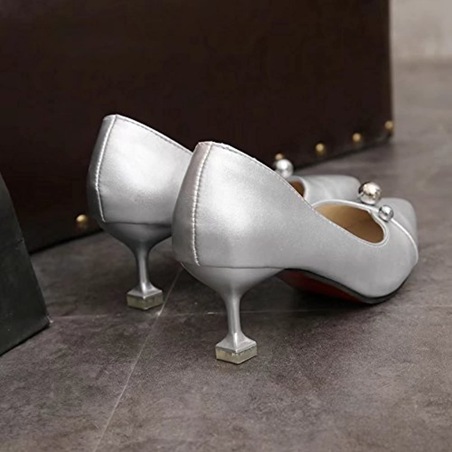 WYMBS Autumn and Winter Gifts Women's shoes with Pointed Tips