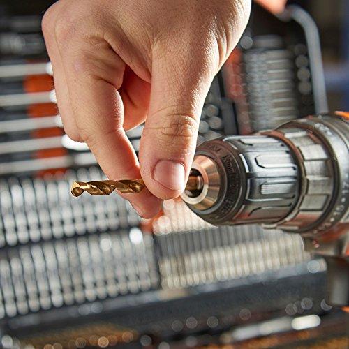 VonHaus 246pc Combination Drill Bit Set, Includes HSS Titanium Twist Drill bits, Masonry Drill Bits, Wood Drill Bits, Screwdriver Bits & More in Storage case - for Metal, Masonry, Wood & Plastics