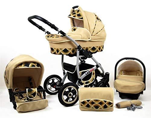 Cochecito de bebe 3 en 1 2 en 1 Trio Isofix silla de paseo New L-GO 2 by SaintBaby Gold Rainbow 4in1 con Isofix + Silla