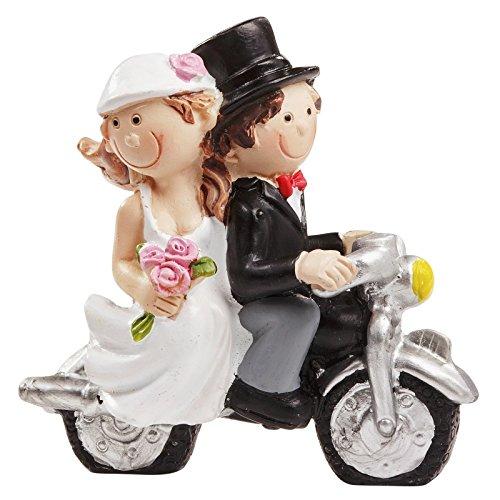 Hochzeitspaar mit Motorrad * Tortendekoration * Tortenfigur * Tischdekoration
