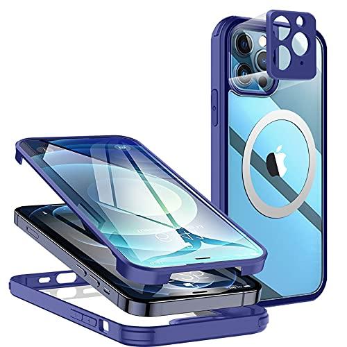 Funda Para iPhone 11 Pro Max Antigolpes,[Vidrio Transparente de Doble Cara con Protector de Pantalla][Apoyar Mag-Safe][100% de Sensibilidad Táctil con Protección de Cámara]para iPhone 11 Pro M