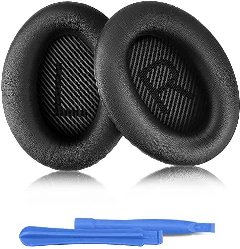 Almohadillas Repuesto para Auriculares Bose Quiet Comfort 35 35II 2 15 25 AE2 AE2i AE2w SoundTrue SoundLink QC35 QC35II Almohadillas Espuma para Auriculares Negro