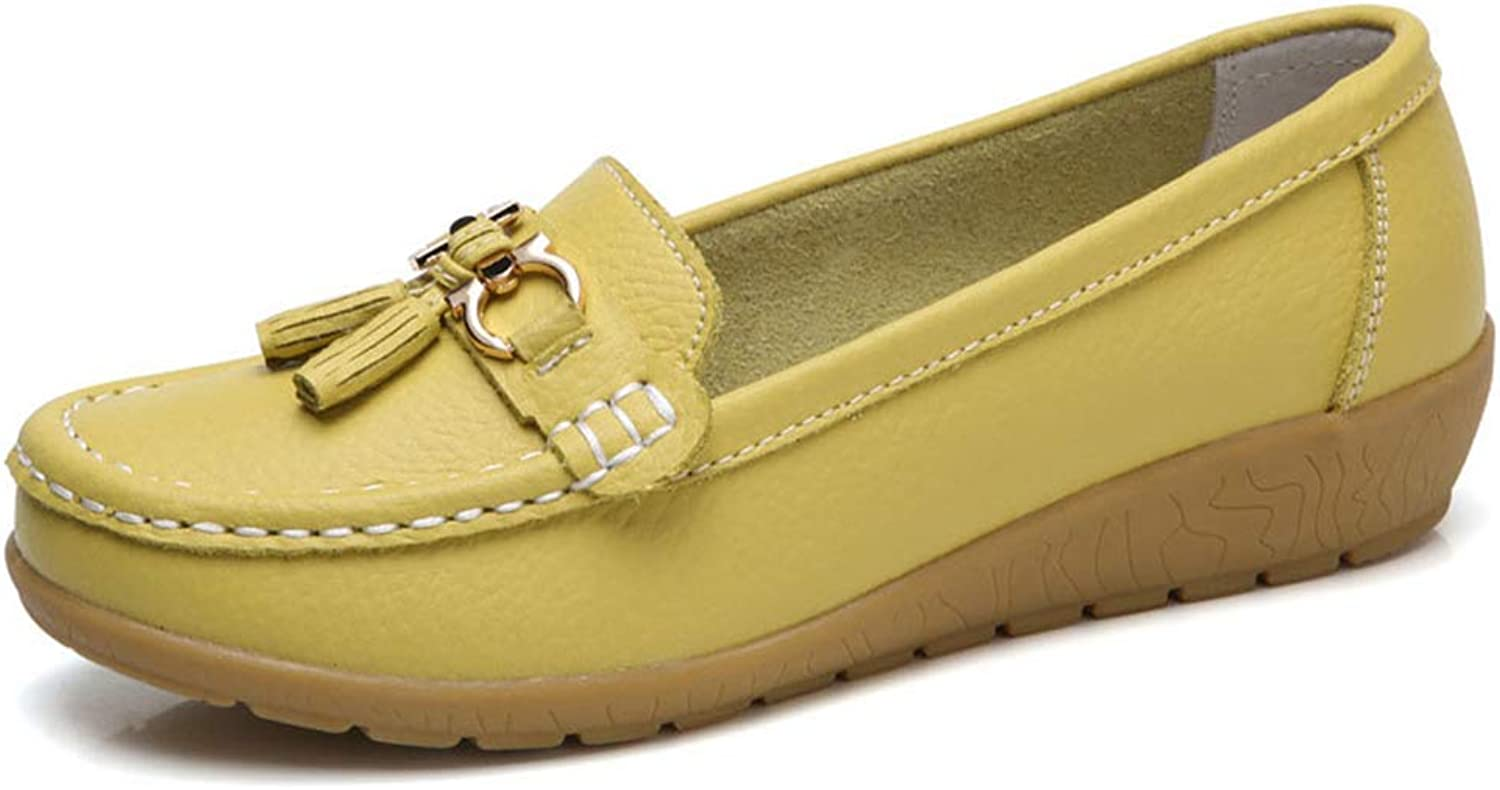 JOYBI Women Round Toe Penny Loafers Comfortable Wild Non Slip Cozy Driving Casual Flat Moccasins shoes
