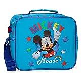 Disney Neceser Mickey Stars Adaptable a Trolley con Bandolera, Azul, 25x19x10 cm