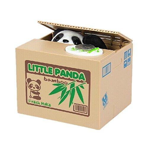 XLKJ Hucha Electrónica Caja Panda Hucha Panda Roba Monedas de Dinero para Niños
