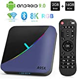 Doll Android TV Box, A95X F3 Android 9.0 TV Box 2GB RAM 16GB ROM Amlogic S905X3 Quad-Core Cortex-A55 Bluetooth 4.2 Procesador 2.4/5.0GHz WiFi Compatible con 8K Ultra H.265 Smart TV Box