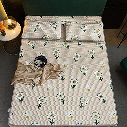 Lenzuolo con angoli per materasso, con angoli, in lattice, antiscivolo, 180220 cm, colore: giallo