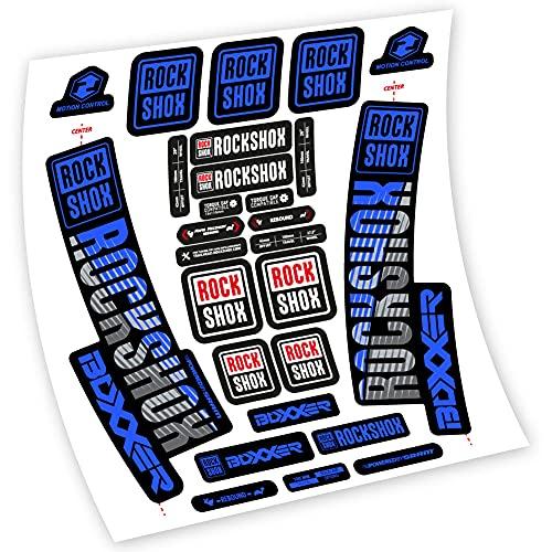 Rock Shox Boxxer stickers van vinyl vork (medium blauw)