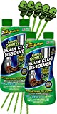 DISSOLVES HAIR, SOAP, PAPER & GREASE: Forget the dirty work of plunging clogged toilets and end backed-up drains once and for all! The highly effective formula of Green Gobbler clears clogged drains and liquifies grease, hair, paper, soap scum and ev...