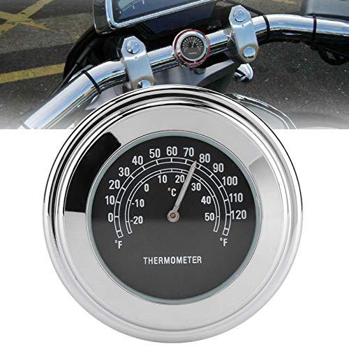 Jeanoko Medidor de temperatura impermeable Dial de temperatura Termómetro de manillar Anti‑shock...