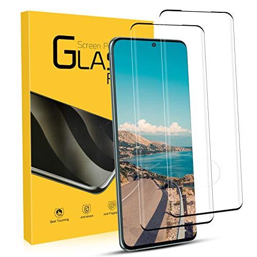 NONZERS 2 Unidades Cristal Templado para Samsung Galaxy S20 9H Dureza Protector de Pantalla, Resistente a Araaozos y Golpes, Compatible con 3D Touch Vidrio Templado para Samsung Galaxy S20