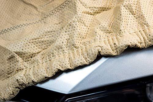 SOFTGARAGE 3-lagig beige Indoor Outdoor atmungsaktiv wasserabweisend Car Cover Vollgarage Ganzgarage Autoplane Autoabdeckung 102040-5013AHS