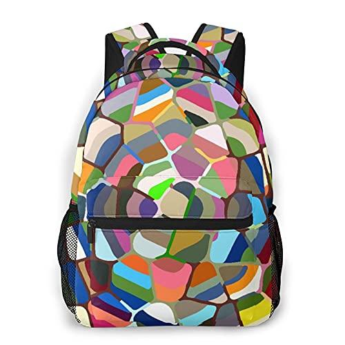 MJIAX Mochila para adolescentes, hombres, mujeres, paquete de almacenamiento,Colorido ornamental rosa suave peludo, Mochila para portátil de viaje para estudiantes de escuela informal de negocios