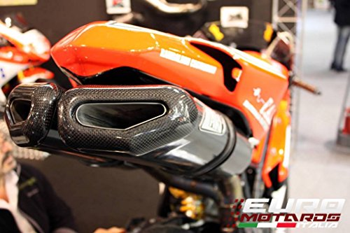 Ducati 848 1098S Zard Impianto Scarico Completo con Silenziatori Penta-Evo Carbonio +4CV System Exhaust