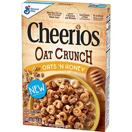 Cheerios Oat Crunch Oats & Honey Breakfast Cereal, 15.2 Oz