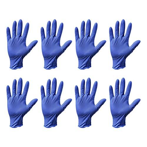 guanti medici Milisten Guanti Medici Dell esame Blu 80Pcs Guanti Protettivi Dell esame Blu Guanti Medici Sterili Sicuri per Uso Alimentare Eliminabili Senza Polvere Medici per L ospedale