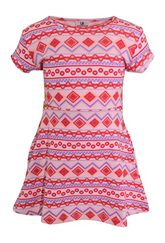 Unique Baby Girls Pink Repeated Heart Print Valentine's Day Dress (6)
