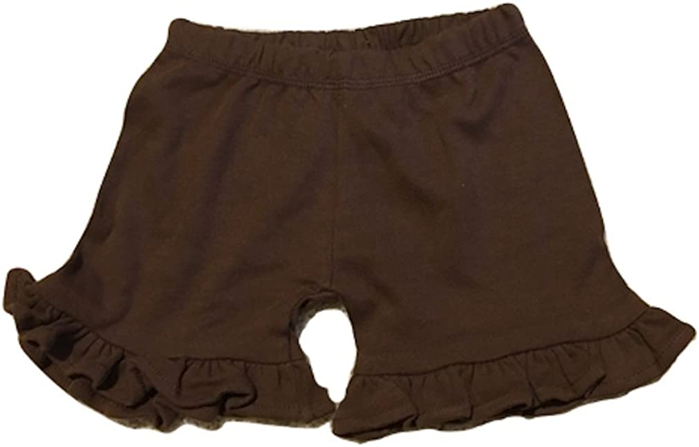 online shop Monag Max 90% OFF Little Girls Relaxed Fit 100% Cotton Ruffle Shorts