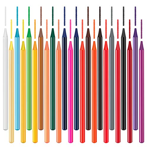 Woodless Colored Pencils, Hethrone 24 Watercolor Pencils Set for Kid Artist Adult Coloring, Great for Coloring Books Drawing Shading Sketching