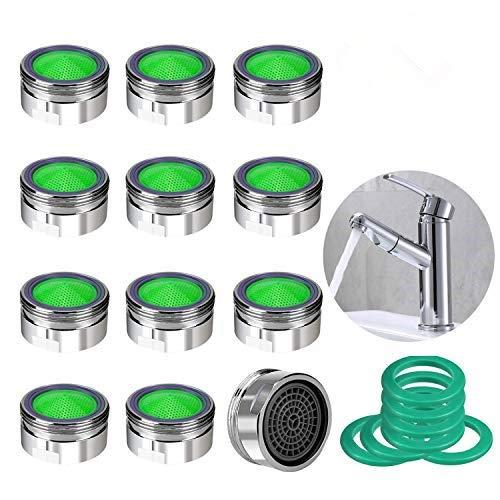 KWODE 12 unidades Atomizador Ecológico de Agua con el Hilo Externo Atomizador Filtro de Cocina/Baño Grifo, Aireador Desmontable para Grifos de Cocina-24mm