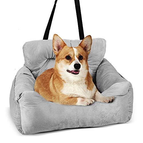 Jodimitty Autositz für Hund, Auto Hundesitz für Kleine Mittlere Hunde Waschbarer Rutschfester Hundesitz Sicherheitssitz für Hunde,Inklusive Sicherheitsgurt, Hundeautositz für Rück und Vordersitz